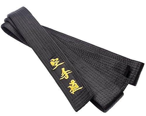 Black Belt -MASTER-Silk/Satin JAPANESE Embroidery Karate - 330cm