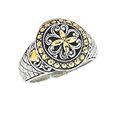 buy Anthony Brava Bali 18K & Sterling Silver Ring