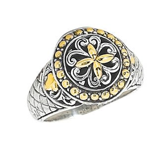 Anthony Brava Bali 18K & Sterling Silver Ring