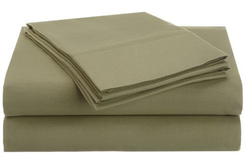 Vanessa Collection Microfiber Series Solid Sheet Sets - Twin - Sage front-1012012