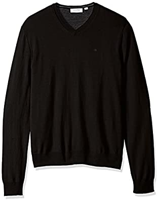 Calvin Klein Men's Merino Solid V-Neck Sweater