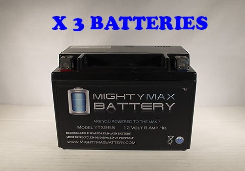 YTX9-BS Battery for ATK All Kick-Start Model 91-95 - 3 pack - Mighty Max Battery brand product
