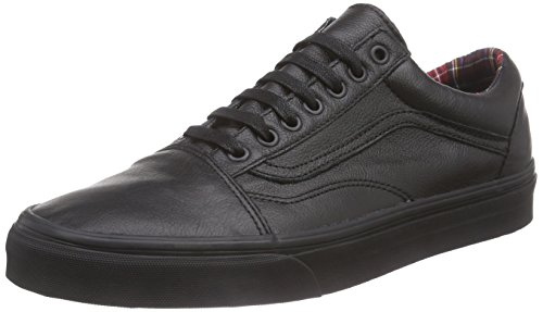 VansOld Skool - Scarpe Sportive Outdoor unisex adulto , Nero (Noir (Black/Plaid)), 44