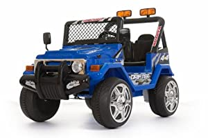 BLUE Twin Motor 12v 4x4 style Jeep WITH PARENTAL REMOTE & 6 MONTH WARRANTY