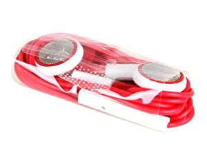 Earphone Headphones with Remote Mic for iPhone 5 4 4S iPod iPad Red