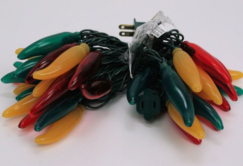 Chili Pepper Lights - Fiesta Lights - Red/Green/Yellow Set of 35 (Mexican Restaurant Lights compare prices)