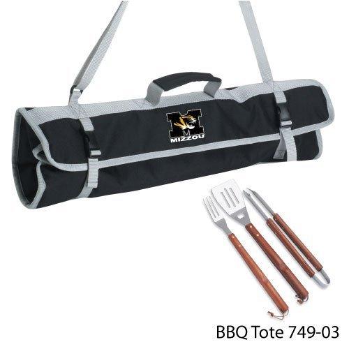 Ncaa Missouri Tigers 3-Piece BBQ Tool Set With Tote