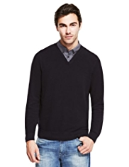 Pure Cotton Piqué Mock Shirt Jumper