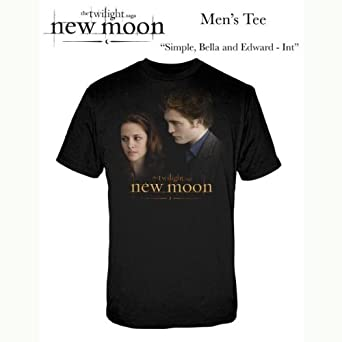 Warner Music Shirts Twilight New Moon Simple Bella & Edward Men's T-Shirt , Black, Medium