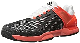 adidas Performance Men\'s Adizero Ubersonic Tennis Shoe, White/Black/Solar Red, 11.5 M US