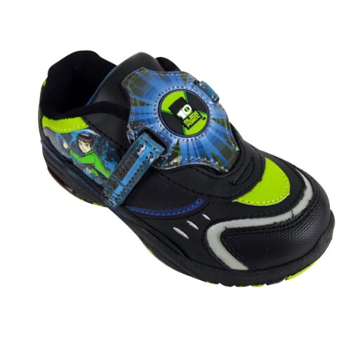 Kids Boys Ben 10 Alien Force Trainer Infants Light Up Velcro Trainers Size 7-2