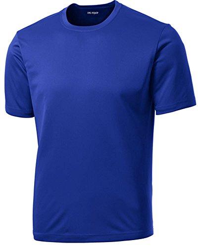 Dri-Equip(tm) Youth Athletic All Sport Training Tee Shirt,L-True Royal