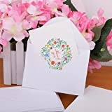 Vintage 50pcs Thank You Cards Vintage Wreath Floral Flower Wedding Party