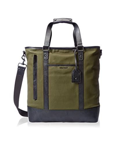 Cole Haan Men's Leather Trim Tote Bag, Olive
