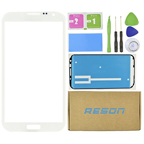 Reson® White Screen Glass Replacement Repair Kit for Samsung Galaxy Note 2 Ii N7100 I317 L900 I605 T889+tools Kit+dry/wet/dust Cleaning Paper+adhesive Sticker Tape (Kit Repair Samsung Note 2 compare prices)