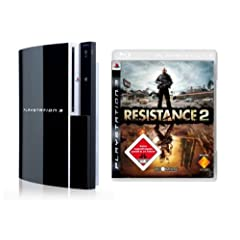 PlayStation 3 Konsole 80 GB (inkl. Dual Shock Wireless Controller) + Resistance 2
