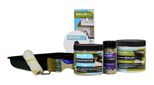 RECLAIM RC44 Countertop Makeover Kit It's As Easy As Roll, Fleck & Seal, Loden (Paint Roller Tray Inserts compare prices)