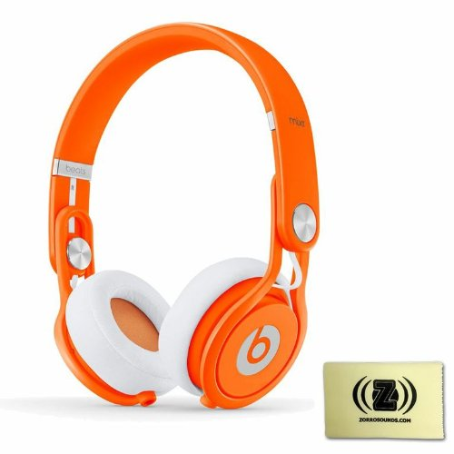 Beats by Dr. Dre Mixr Lightweight DJ Headphones (Orange) BUNDLE with Custom Designed Zorro Sounds Instrument Cloth
