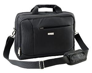 """Duronic LB10 15"""" Laptop Notebook Case Black Messenger Bag with Shoulder Strap"""