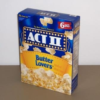 ACT II Butter Lovers Microwave Popcorn 6 pack (6 bags each) (076150232523)