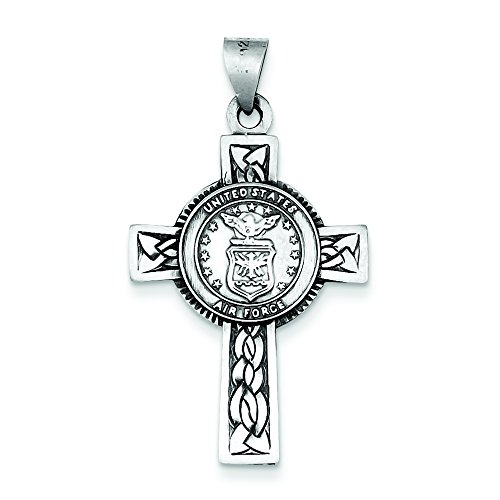 Sterling Silver Us Air Force Cross Pendant
