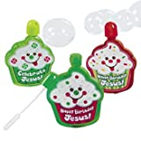 24 Happy Birthday Jesus! Bubble Bottles - Sunday School & Toys & Games