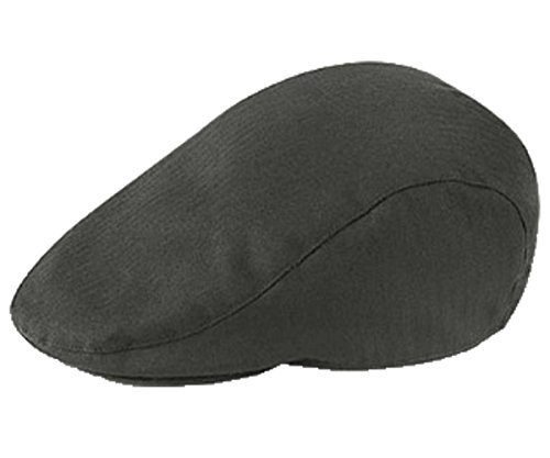 Mens Plain Wool Blend Flat Cap (CHARCOAL)