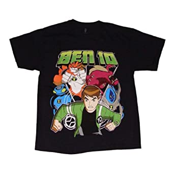 Ben 10 Boys T Shirt (10/12, Black)