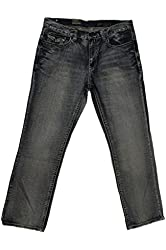 Axel Men's Treadwell Relaxed Straight Fit Jeans Button Back Pockets