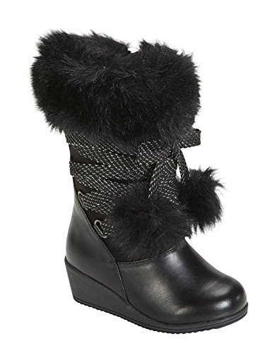 Canyon River Blues Toddler Girls Black Fashion Boots with Faux Fur Trim 7T (Canyon River Blues Shoes compare prices)