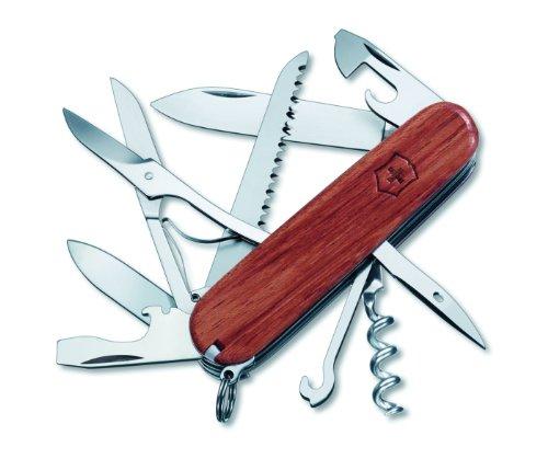 Victorinox Swiss Army Huntsman Pocket Knife, Hardwood,91mm