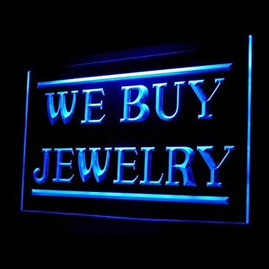 We Buy Jewelry Advertising Led Light Sign