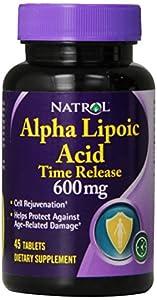 Natrol Alpha Lipoic Acid Tr 600mg Tablets, 45-Count