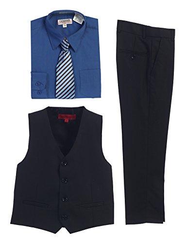 black vest amp pants royal blue dress shirt amp stripe tie