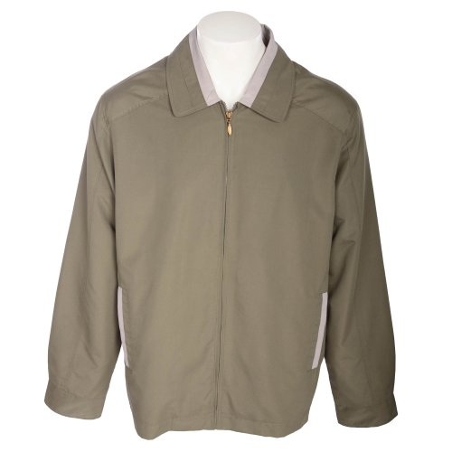 Harbour Classic Men's Khaki Contrast Harrington Jacket in Size XLarge