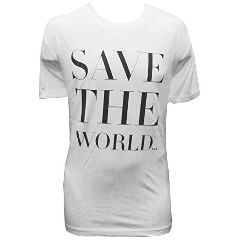 Swedish House Mafia: Save The World T-shirt Uomo - Bianco, L - Large
