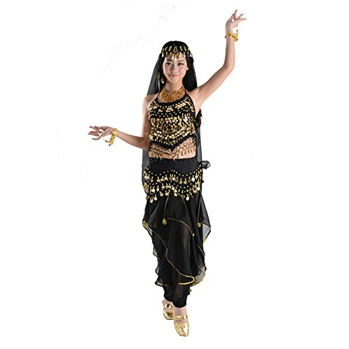STIME TM Womens Free Size Belly Costumes, Indian Dance Suit, Belly Dance Set