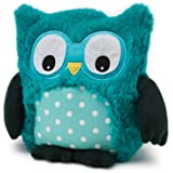 Bouillotte sèche Peluche Hibou Turquoise - Soframar - Made in england