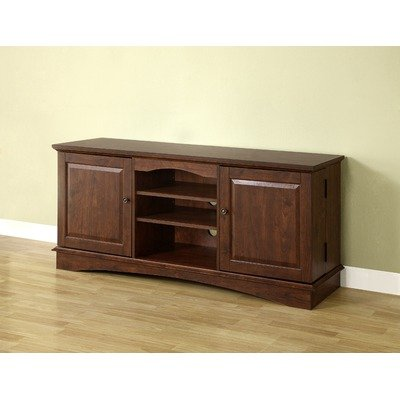Cheap 60″ Media Storage TV Stand in Traditional Brown (WQ60C73TB)