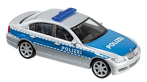 Welly-10077873-Polizei-Auto-Fahrzeug-143-blausilber
