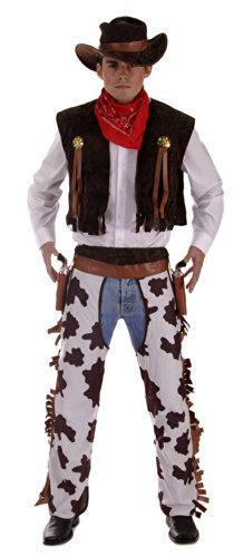 Men's Western Cowboy Fancy Dress Costume. One Size Costume But Usually Fits Mens Small, Medium, Large and XL. Perfect For Cowboys and Indians.. by (Cowboy Chaps Fancy Dress)