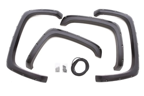 Lund Rx103S Elite Series Black Rivet Style Standard Front And Rear Fender Flare - 4 Piece front-496053