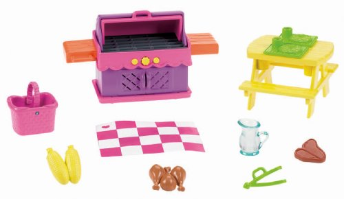 Fisher-Price Dora The Explorer Playtime Together Dora and Me Dollhouse Deluxe Backyard BBQ Set (Fisher Price Dora House compare prices)