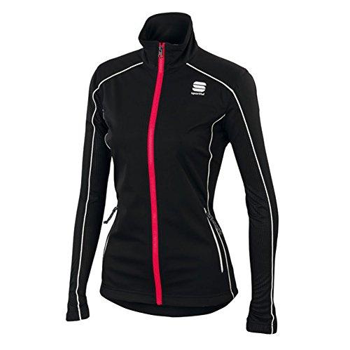 Giacca da sci di fondo da donna/giacca a vento Engadina Wind Jacket, Black, XL