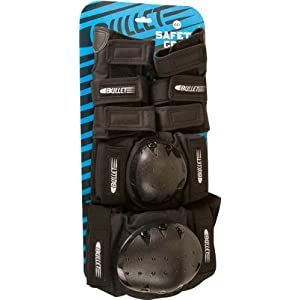 Bullet Adult Small Combo Knee Elbow Wrist Black Skate Pads