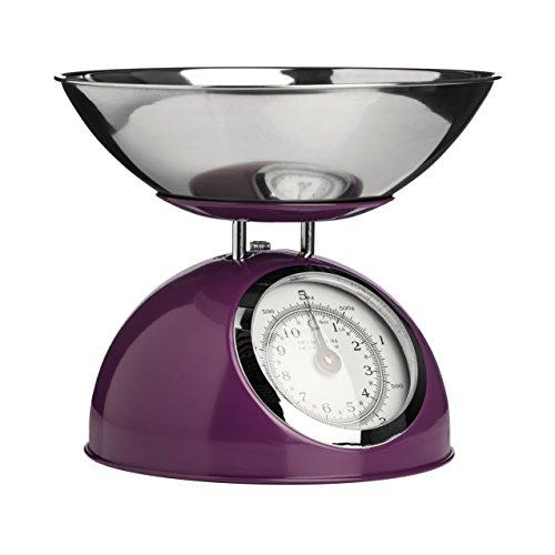Premier Housewares 0807277 Balance de Cuisine Electronique avec Bol Acier Inoxydable Violet
