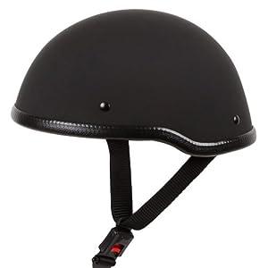 Low Profile Novelty Harley Half Helmet Skull Cap Matte Black (L) by Ivolution Sports, Inc