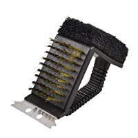 Rectangular Brush Metal Scraper Bristle Base Pot Pan Scrubber
