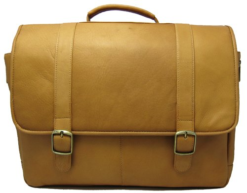 David King & Co. Porthole Laptop Briefcase, Tan, One Size