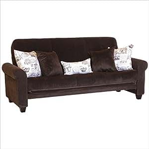 Amazon Gloria Futon Sofa Sleeper w 5 Pillows Kitchen & Dining
